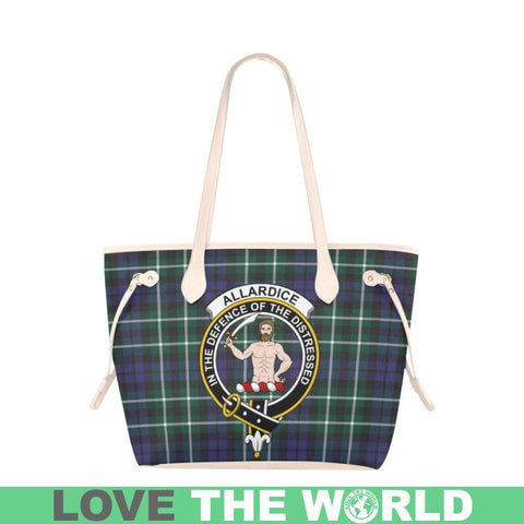 Allardice Tartan Clan Badge Clover Canvas Tote Bag C33 Bags
