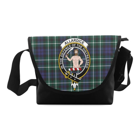 ALLARDICE TARTAN CLAN BADGE CROSSBODY BAG NN5