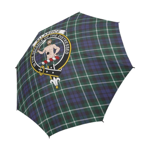 Allardice Tartan Clan Badge Semi-Automatic Foldable Umbrella R1 Semi Umbrellas