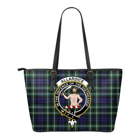 Allardice Tartan Clan Badge Small Leather Tote Bag C20 Totes