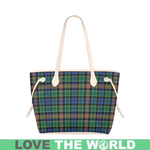 Allison Tartan Clover Canvas Tote Bag S1 Bags