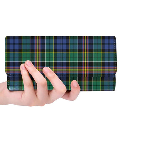 Allison Tartan Trifold Wallet V4 One Size / Allison Black Womens Trifold Wallet Wallets