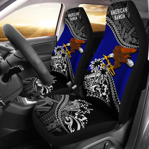 American Samoa Car Seat Covers Fall In The Wave 1