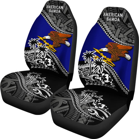 American Samoa Car Seat Covers Fall In The Wave 2