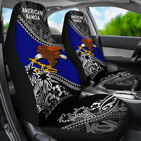 American Samoa Car Seat Covers Fall In The Wave 3
