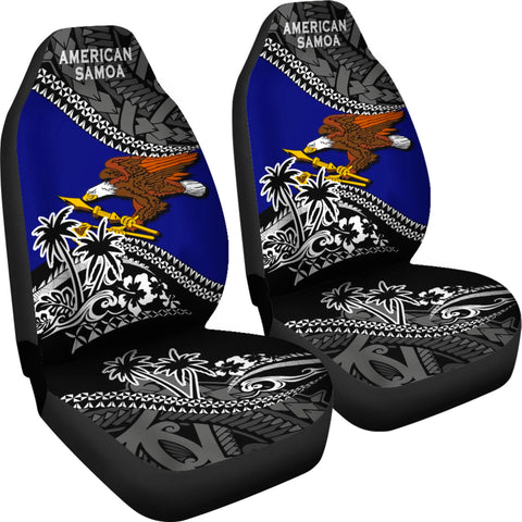 American Samoa Car Seat Covers Fall In The Wave 4