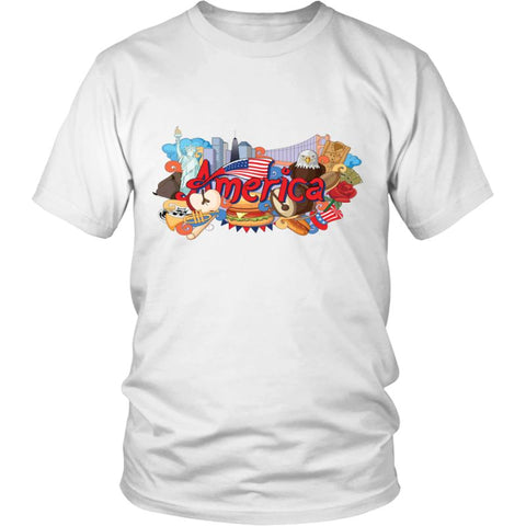 Image of American Doodles A9 District Unisex Shirt / White S T-Shirts