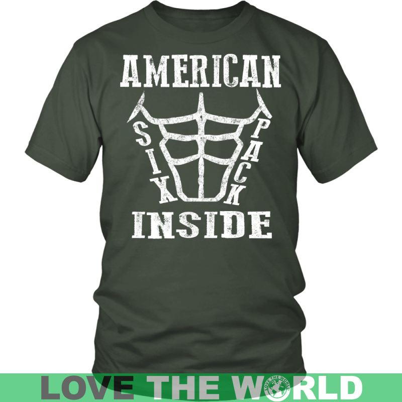 American Six Pack Inside District Unisex Shirt / Royal Blue S T-Shirts