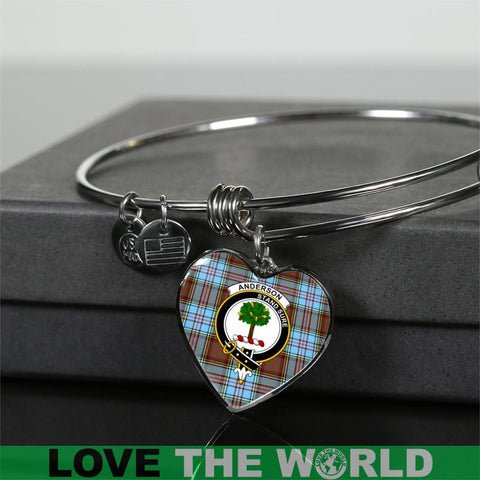 Anderson Ancient Tartan Silver Bangle - Sd1 Luxury Bangle (Silver) Jewelries