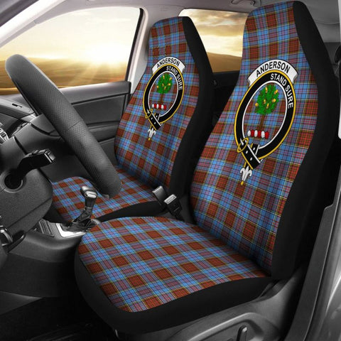 Image of Anderson Tartan Car Seat Cover - Clan Badge