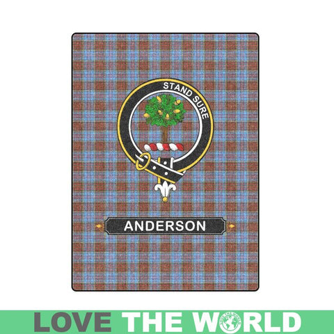 Image of Anderson Clan Tartan Blanket Dn1 One Size / 40X50 Blankets