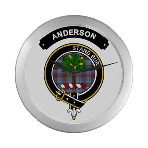 Anderson Clan Tartan Wall Clock  - Love The World