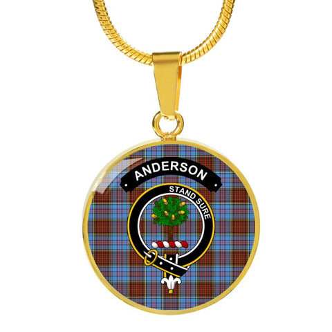 Anderson Clan Tartan Golden Necklace And Bangle A9 Luxury Necklace (Gold) Jewelries