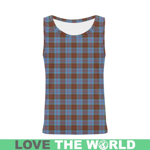 Image of Anderson Modern Tartan All Over Print Tank Top Nl25 Xs / Men Tops