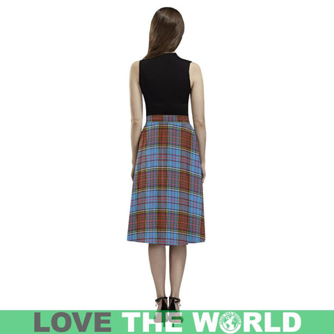 Image of Anderson Modern Tartan Aoede Crepe Skirt S12 Skirts