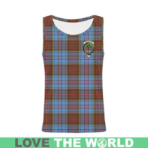 ANDERSON MODERN TARTAN CLAN BADGE ALL OVER PRINT TANK TOP K7