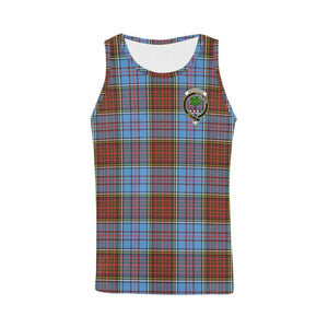 Anderson Modern Tartan Clan Badge All Over Print Tank Top Nl25 Xs / Men Tops