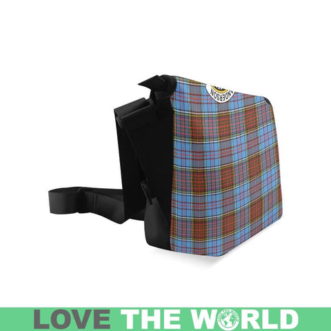 Image of Anderson Modern Tartan Clan Badge Crossbody Bag C20 Bags