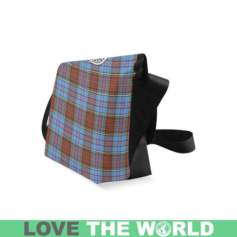 Anderson Modern Tartan Clan Badge Crossbody Bag C20 Bags