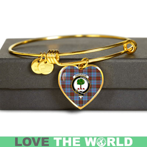 Image of Anderson Modern Tartan Golden Bangle - Tm Jewelries
