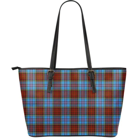 Anderson Modern Tartan Large Leather Tote Bag Nl25 Totes