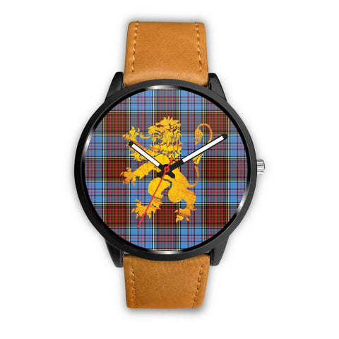 Anderson Modern Tartan Lion Leather/steel Watch P1 Mens 40Mm / Brown Leather-Steel Watches