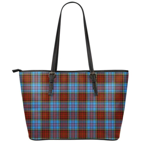 Anderson Modern  Tartan Handbag - Tartan Small Leather Tote Bag Nn5 |Bags| Love The World