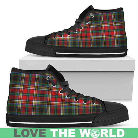 Image of Anderson Of Arbrake Tartan Canvas Shoes Mens - Black Black / Us5 (Eu38)