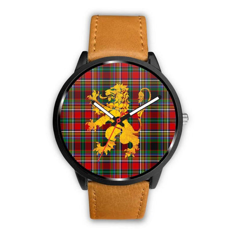 Anderson Of Arbrake Tartan Lion Leather/steel Watch P1 Mens 40Mm / Brown Leather-Steel Watches