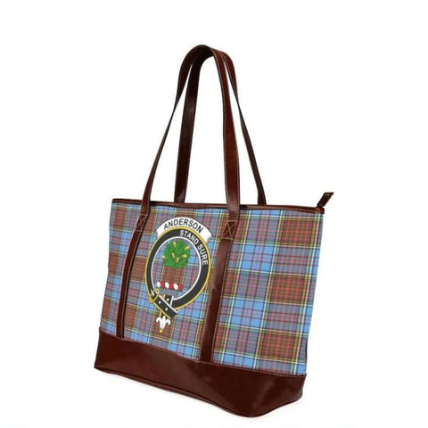 Anderson Tartan Clan Badge Tote Handbag Hj4 Handbags