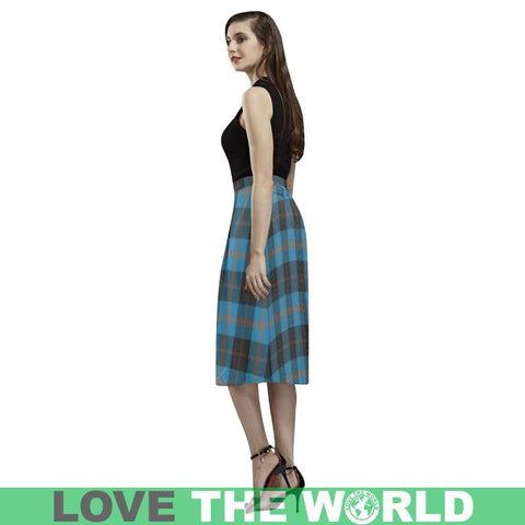 Image of Angus Ancient Tartan Aoede Crepe Skirt S12 Skirts