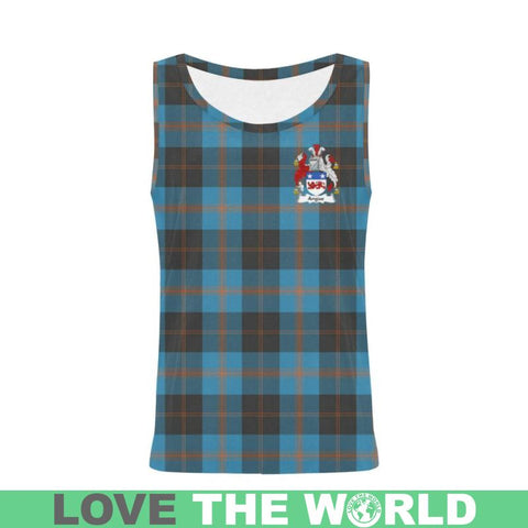 Image of Angus Ancient Tartan Clan Badge All Over Print Tank Top Nl25 Xs / Men Tops