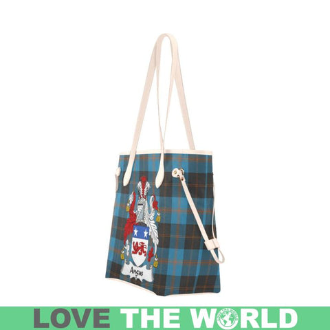Angus Ancient Tartan Clan Badge Clover Canvas Tote Bag C33 Bags