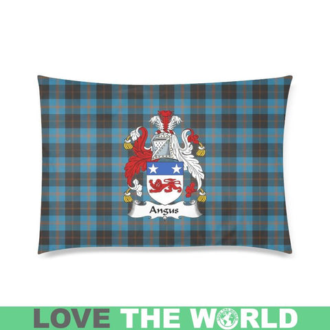 Angus Ancient Tartan Clan Badge Rectangle Pillow Hj4 One Size / Angus Ancient Custom Zippered Pillow