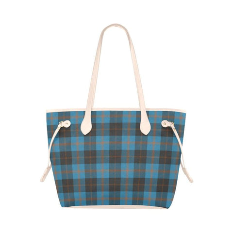 Angus Ancient Tartan Clover Canvas Tote Bag S1 Bags