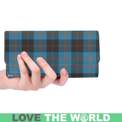 Angus Ancient Tartan Trifold Wallet V4 One Size / Angus Ancient Red Womens Trifold Wallet Wallets