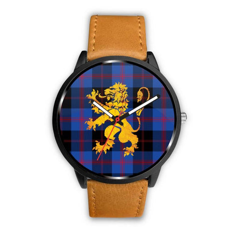 Angus Modern Tartan Lion Leather/steel Watch P1 Mens 40Mm / Brown Leather-Steel Watches