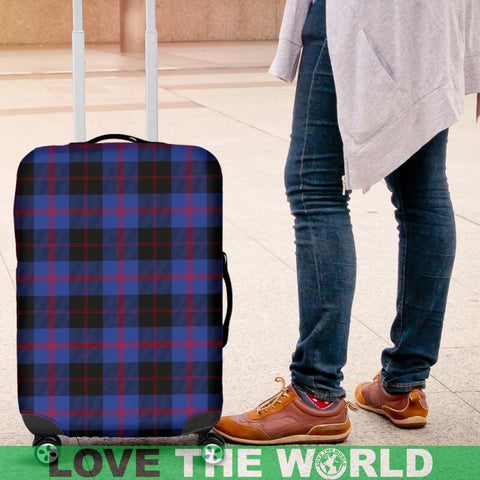 Image of Angus Modern Tartan Luggage Cover Hj4 Covers