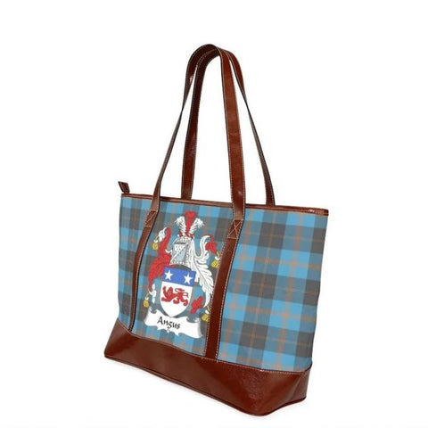 Angus Tartan Clan Badge Tote Handbag Hj4 Handbags