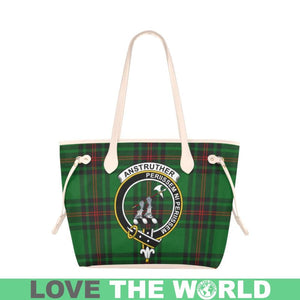 Anstruther Tartan Handbag - Tartan Clan Badge Large Leather Tote Bag Nn5