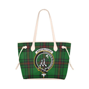 Anstruther Tartan Clan Badge Clover Canvas Tote Bag C33 Bags