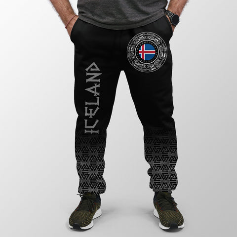 Viking Style Jogger (Women's/Men's) - Iceland Coat Of Arms A31