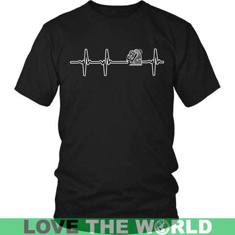 Image of Aquarius Heartbeat G1 Gildan Womens T-Shirt / Black S T-Shirts