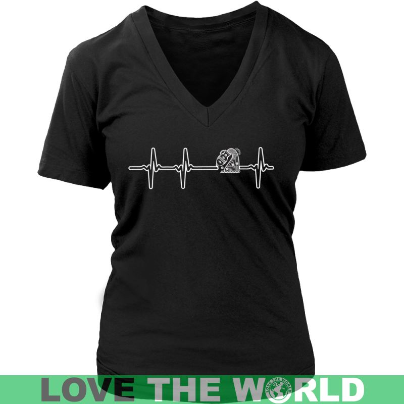 Aquarius Heartbeat G1 Gildan Womens T-Shirt / Black S T-Shirts