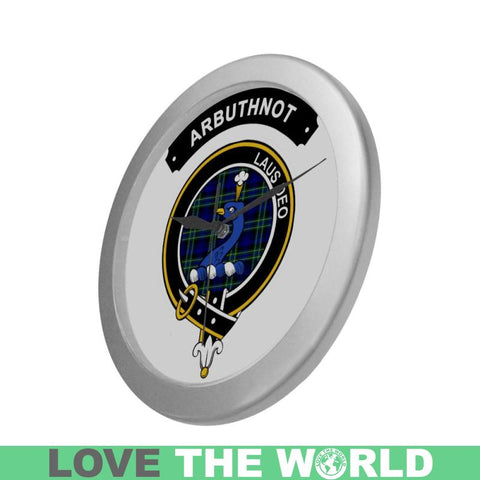 Arbuthnot Clan Tartan Wall Clock  - Love The World