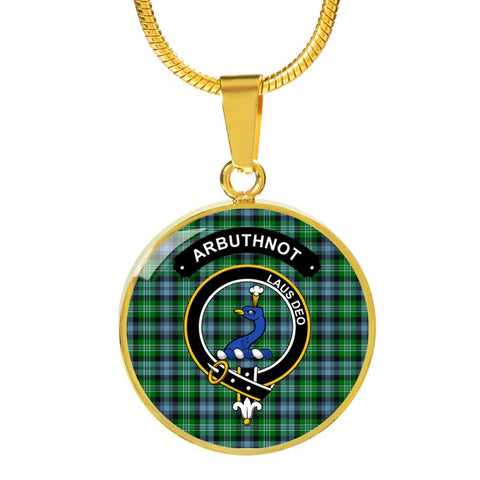 Arbuthnot Clan Tartan Golden Necklace And Bangle A9 Luxury Necklace (Gold) Jewelries