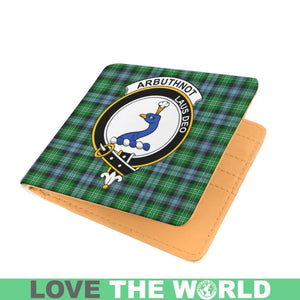 ARBUTHNOT CLAN TARTAN MEN WALLET A3