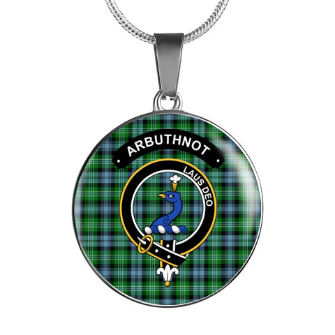 Arbuthnot Clan Tartan Silver ( Necklace And Bangle) F1 Luxury Necklace W/ Adjustable Snake-Chain