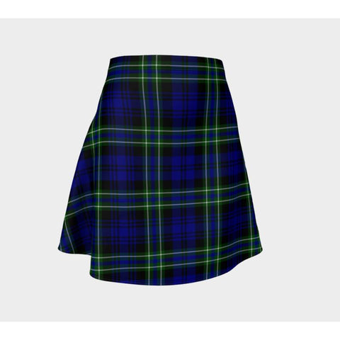 Tartan Skirt - Arbuthnot Modern Women Flared Skirt A9 |Clothing| 1sttheworld