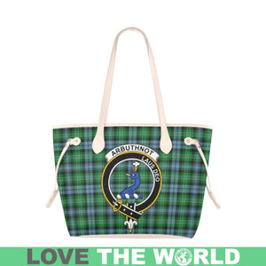 Arbuthnott Tartan Handbag - Tartan Clan Badge Large Leather Tote Bag Nn5